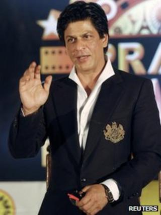 Bollywood actor Shah Rukh Khan near Calcutta on 15 April 2012