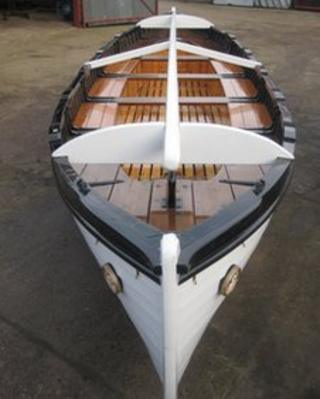 Restored Cutty Sark lifeboat