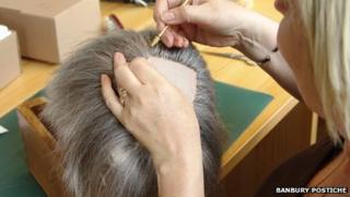 Professional wig-making photograph from Banbury Postiche