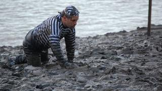 Fancy dress convict in the Maldon Mud Race