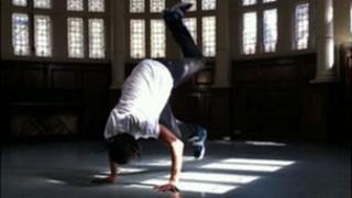 Hip hop dancer Andry Oporia
