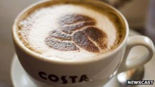 A Costa cappuccino