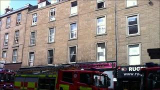 Fire in Dundee