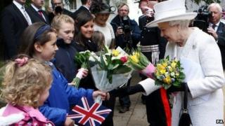 The Queen visits Llandaff Cathedral in Cardiff