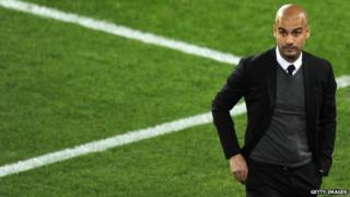 Barcelona's coach Josep Guardiola