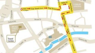 Bus parade map