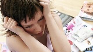 Unhappy young person