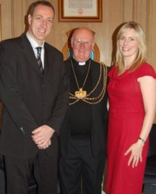 Adam Pope, the Lord Mayor of Leeds and Katherine Hannah