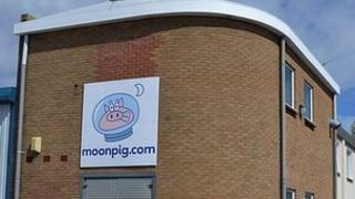Moonpig warehouse in Guernsey