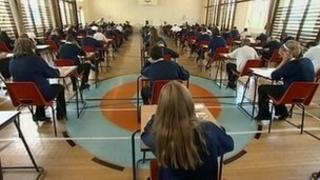 Children sitting 11-plus exam