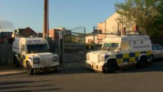 Police searches in Ardoyne