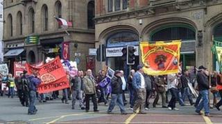 Rally in Manchester city centre