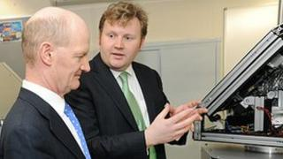 Dr Roland Leigh with David Willetts