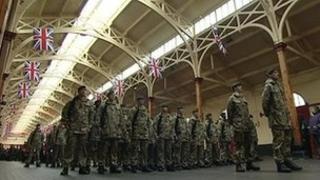 1st Battalion The Rifles in Barnstaple