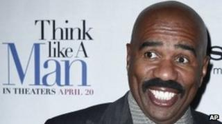 Steve Harvey, author of the non-fiction book that inspired Think Like a Man