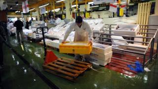 A Billingsgate fish market porter