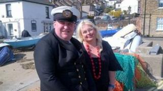 Jane Dolby and Senior Superintendent Tim Jenkins from the Fishermen's Mission