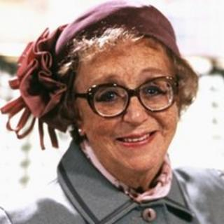 Dame Thora Hird as she appeared in Last of the Summer Wine