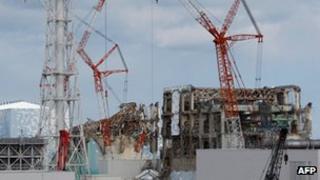 Damaged Fukushima Daiichi nuclear plant