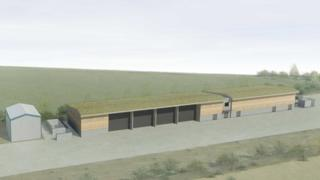 Artist's impression of the proposed emergency response centre at Sizewell