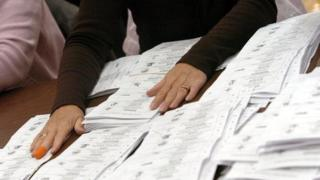 Election votes being counted