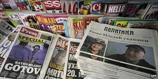 News stand in Serbia