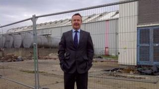 Developer Chris Musgrave at the Allens West site in Eaglescliffe