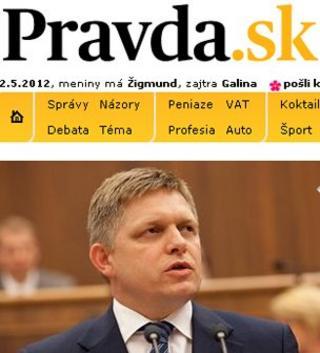 Pravda web page