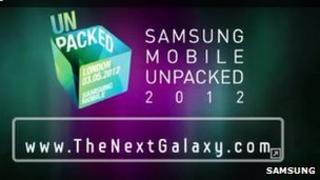 Samsung webpage screenshot