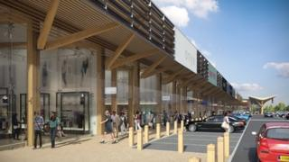 Artist's impression of shopping centre