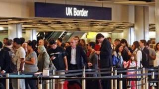 A queue at Heathrow on 30 April, 2012