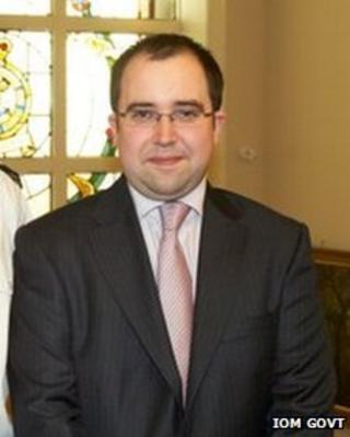 The new Mayor of Douglas, David Ashford