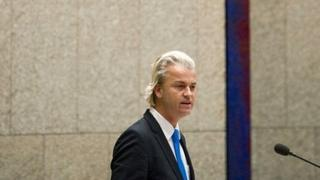 Geert Wilders addressing a 24 April 2012 debate in the Dutch parliament on the fall of the government of Prime Minister Mark Rutte