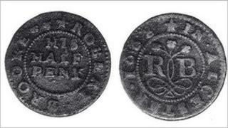 Robert Brooke halfpenny from 1668