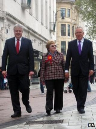 Carwyn Jones, Heather Joyce and Peter Hain