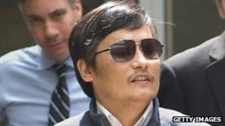 Chinese dissident Chen Guangcheng at in Beijing, 2 May