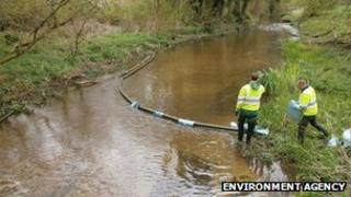 Environment Agency carry out work on the River Bourne