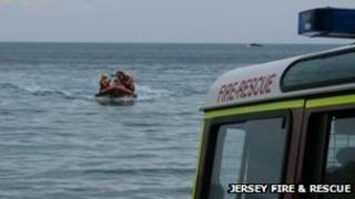Jersey Fire & Rescue service getting the youthfrom the water