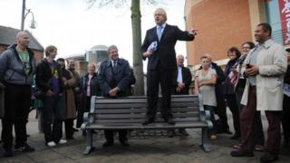 Boris Johnson during the campaign