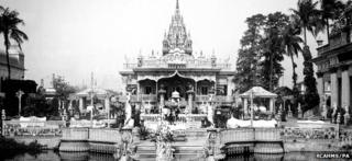 Undated photo of Jain Temple complex, Calcutta
