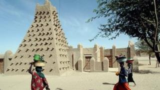 The Djingareyber mosque is one of the cultural sites protected by Unesco in Timbuktu, Mali (file photo)