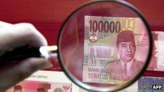 Indonesia rupiah note