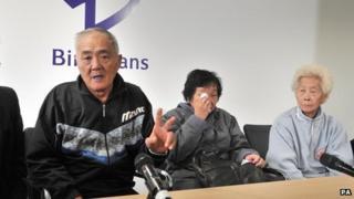 From left: Loh Ah Choi, Chong Koon Ying and Lim Ah Yin