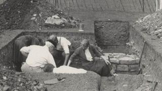 Excavations at Glastonbury in the 1950s