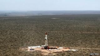 Shale oil drilling rig SAI-310, known as Vaca Muerta