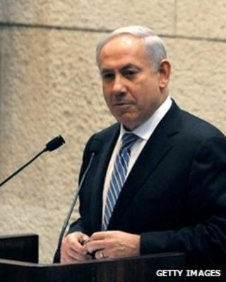 Benjamin Netanyahu speaks about the birthday of Theodor Herzl at the Knesset on May 7 2012