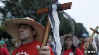 Landless protest in Brazil