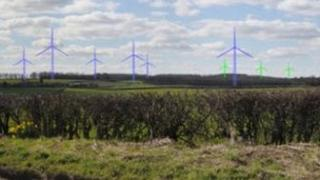 Artist impression of Derbyshire wind farm