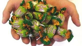 Handful of Emerald sweets