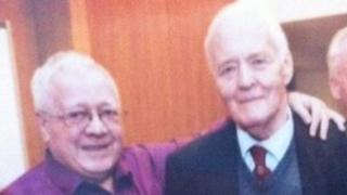 Sammy Barr and Tony Benn